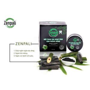 Bột than tre hoạt tính trắng răng Zenpali T - răng chắc khỏe, hơi thở thơm tho