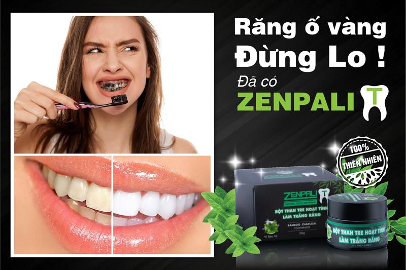 Zenpali - bột than tre hoạt tính làm trắng răng