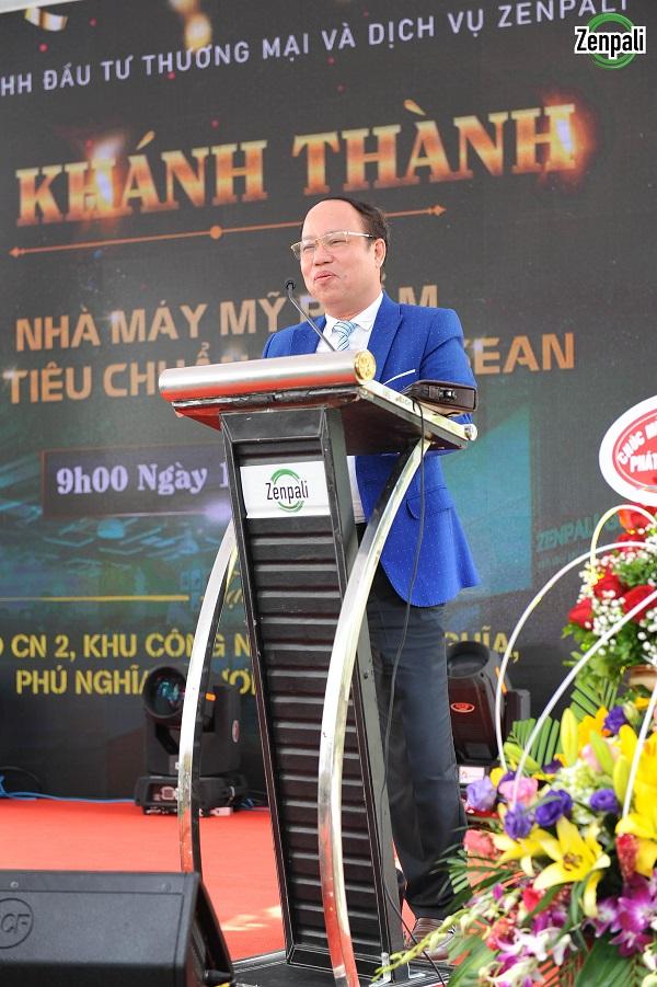 Ông Đặng Ái Sen - Phó Trưởng Công An Huyện Thanh Oai phát biểu