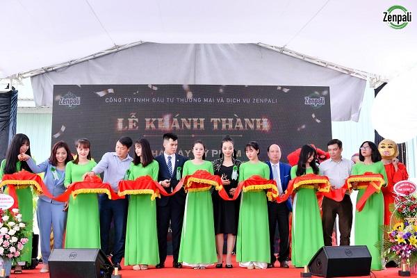 Lễ cắt băng khánh thánh sự kiện khai trường nhà máy sản xuất mỹ phẩm Zenpali