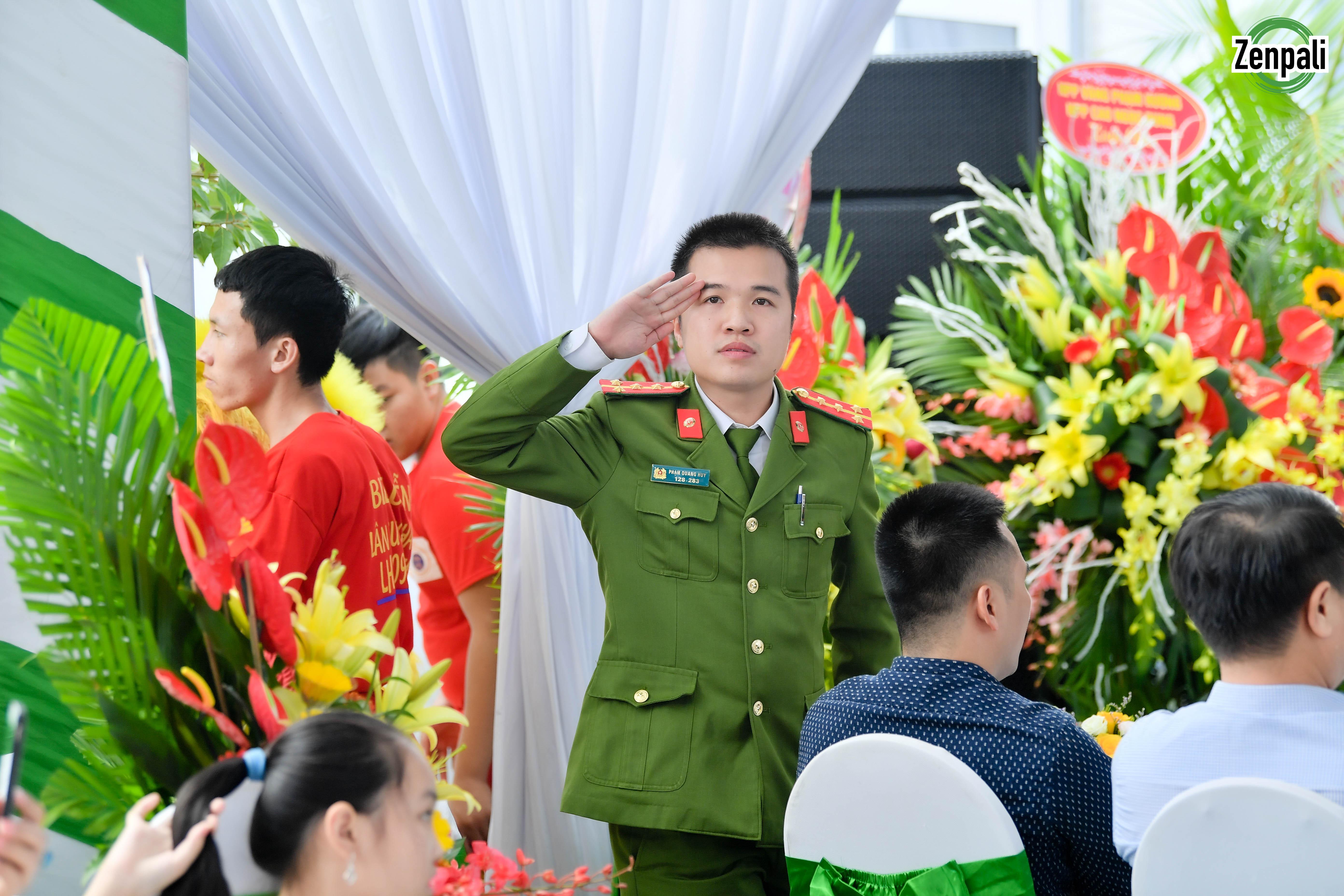 Đại uý Phạm Quang Huy - Cán bộ quản lý địa bàn PCCC - cứu nạn cứu hộ Khu CN Phú Nghĩa