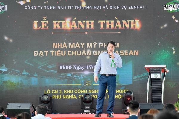 Ông: Hoàng Tuấn Anh Giám đốc ban quản lý KCN Phú Nghĩa phát biểu